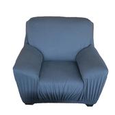 HOLA 素色彈性二人沙發套 深藍