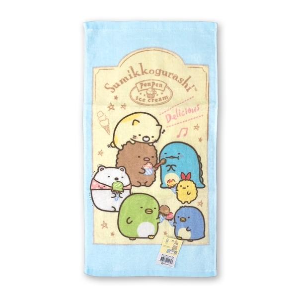 【角落生物】印花童巾-黃框(藍色款)