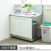 【 dayneeds 】不鏽鋼 72公分置爐台 瓦斯爐架 櫥櫃 碗盤櫃
