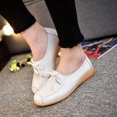 韓版時尚豆豆鞋透氣休閒鞋一腳蹬懶人鞋學生女鞋
