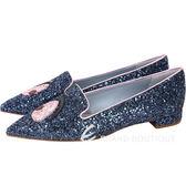 Chiara Ferragni Wonderland Eyes尖頭樂褔鞋(深藍) 1711074-34