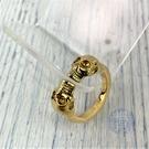BRAND楓月 ALEXANDER MCQUEEN 亞歷山大 麥昆 金色 雙骷髏頭 開合戒指 #19 飾品 配件