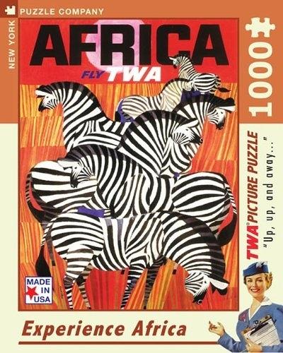 【KANGA GAMES】拼圖 紐約客 環球航空系列 體驗非洲 Experience Africa 1000片
