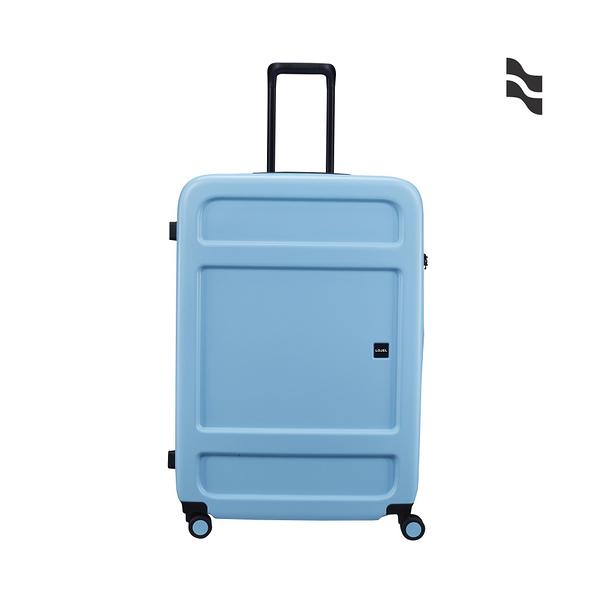 CROWN皇冠 LOJEL JUNA 防盜拉鍊箱 37分箱體 行李箱/旅行箱-31吋-藍色 CF1639