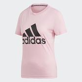adidas T恤 W MH Bos Tee 粉紅 黑 Logo 短T 女款 運動服 【ACS】 DZ0014