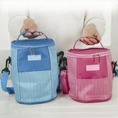 圓形大號保溫飯盒袋鋁箔飯盒包帶飯手提保溫包防水便當包保溫桶袋第七公社