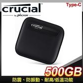 【南紡購物中心】Micron 美光 Crucial X6 500G U3.2 Type C外接式SSD