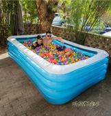 兒童充氣游泳池家用加厚成人超大號嬰兒家庭戲水池小孩寶寶游泳桶MBS 「時尚彩虹屋」