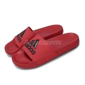adidas 拖鞋 Adilette Shower Slides 紅 黑 男鞋 涼拖鞋 運動拖鞋 【PUMP306】 EE7039