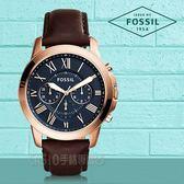 FOSSIL 手錶專賣店   FS5068 時尚三眼男錶 皮革錶帶 不鏽鋼錶殼 深灰色錶面 防水50米 計時功能