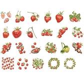 【BlueCat】草莓可可 盒裝貼紙 手帳貼紙 (46枚入) 貼紙