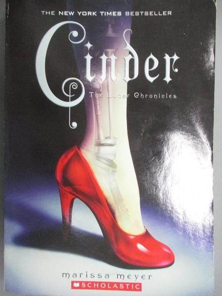 【書寶二手書T6/原文小說_LID】Cinder_written by Marissa Meyer