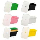 【收納+】多彩大收納盒-含蓋(5色可選)粉色