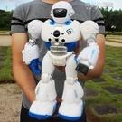 遙控智慧編程機器人機械戰警講故事男女孩早教充電動兒童玩具禮物 育心館
