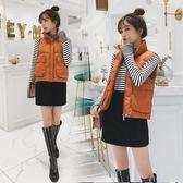 秋冬棉馬甲短款女無袖坎肩背心學生時尚日韓面包棉衣外套潮 巴黎時尚