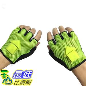 [106美國直購] 騎行手套 Bicycle Safety Turn Signal Gloves - LED gravity sensor cycling warning lights