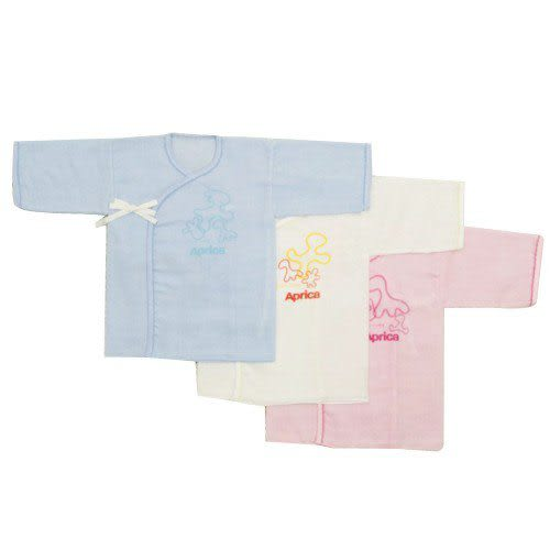 【奇買親子購物網】愛普力卡 Aprica 幸福素雅紗布肚衣(藍/粉/白)