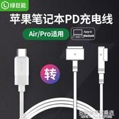 PD快充Type-C轉magsafe2蘋果筆記本充電線MacBook Pro air磁吸誘騙線 名購居家