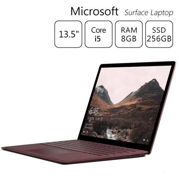 【送微軟無線投影棒】酒紅色 ~ Microsoft Surface Laptop i5 8G 256G 13.5吋筆電