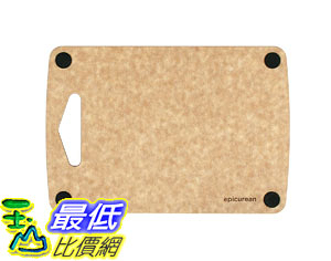 [107美國直購] 無毛細孔砧板 Epicurean Professional Non-Slip Bar Prep Boards (9.5 X 6.5 Inch, Natural