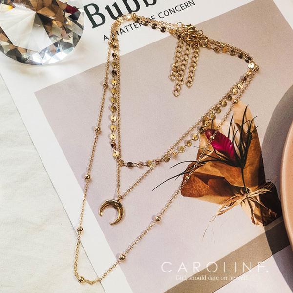 《Caroline》★韓國熱賣造型時尚 浪漫風格,優雅性感項鍊70691
