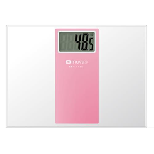 muva SA5401PK繽紛樂電子體重計(櫻花粉)【愛買】