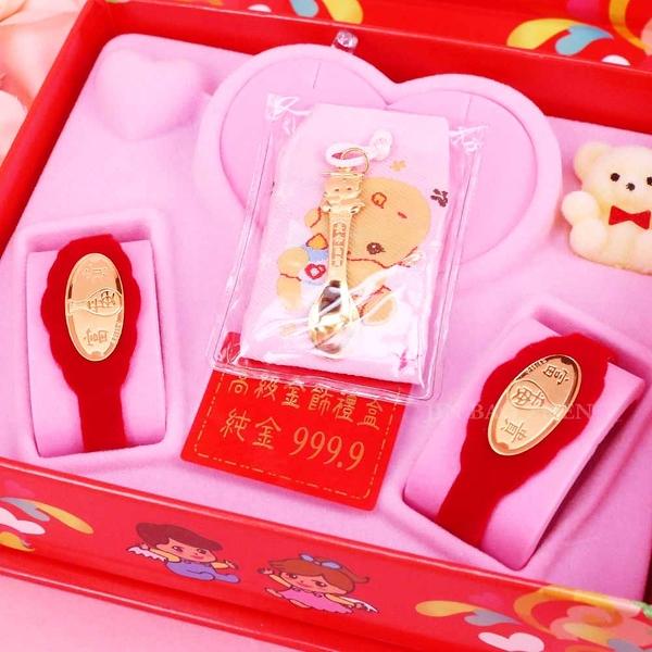 博士金湯匙-彌月金飾音樂禮盒(0.10錢)