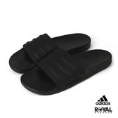 Adidas 黑色 橡膠 涼拖鞋 男女款 NO.H3057【新竹皇家 FW5337】