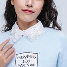 假領子襯衫穿搭假領片 寶石針織衫大學T外套[E1841]滿額送愛康衛生棉預購女裝上衣.朵曼堤洋行