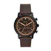 【Fossil】Goodwin復刻舊化時代時尚真皮摩登腕錶-復古棕/FS5529/台灣總代理公司貨享兩年保固