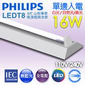 【有燈氏】PHILIPS 飛利浦 LED 山形 山型 4尺 T8 16W 單管Eco 吸頂燈具 含管【TMS030-4x1】
