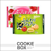 日本 柿原製果 鬆軟 宇治抹茶奶油風味  草莓奶油風味 夾心蛋糕 宇治抹茶 草莓 *餅乾盒子*