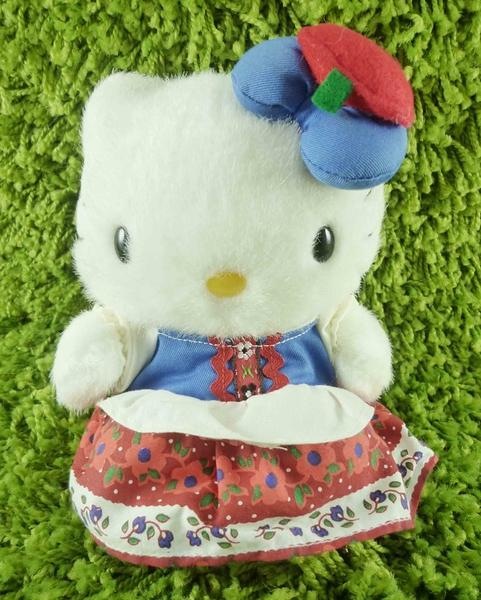 【震撼精品百貨】Hello Kitty 凱蒂貓~KITTY絨毛娃娃-荷蘭服飾-紅色