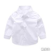 男童純白襯衫 長袖上衣 (硬挺襯衫棉材質)  橘魔法 Baby magic  現貨 中童 大童 男童 襯衫 花童