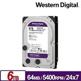 WD 6TB 紫標 監控系統 硬碟 SATA/64M/5400轉/三年保 WD62PURZ