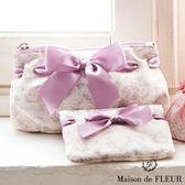 Maison de FLEUR ♡ 甜美印花蝴蝶結絲帶化妝包 - Maison de FLEUR