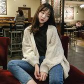 韓版寬鬆百搭加厚學生針織衫開襟上衣外套