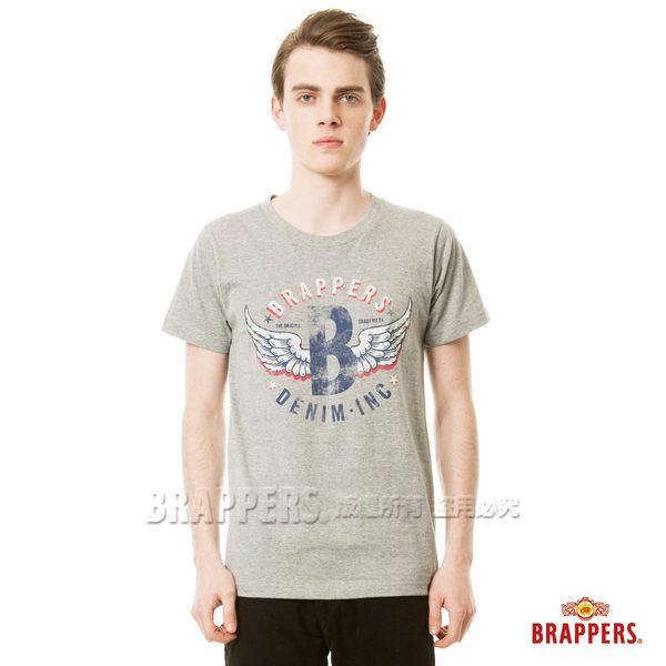 BRAPPERS 男款 日本製大翅膀印花短袖上衣- 灰底紅翅