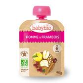 法國Babybio 有 機蘋果覆盆莓纖果泥 隨行包90g[衛立兒生活館]