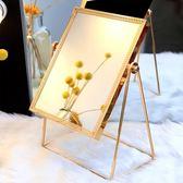 化妝鏡 ins化妝鏡子台式北歐風公主簡約高清學生宿舍方形單面美容梳妝鏡