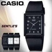 CASIO手錶專賣店 卡西歐 MQ-27-1B 男錶 中性錶 指針 壓克力鏡面 超薄方形 黑面白數字