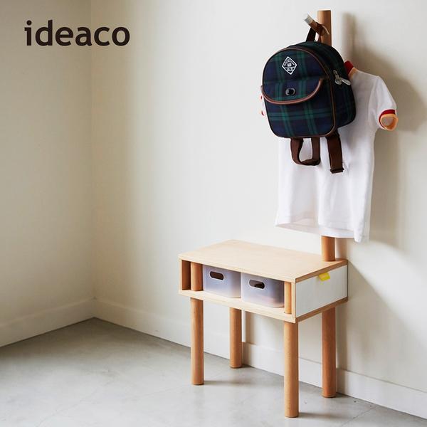 【日本IDEACO】解構木板長頸鹿兒童穿鞋椅附掛架