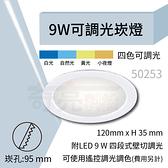 【奇亮科技】含稅 崁孔9.5公分 9W LED崁燈 超薄崁燈 可調光調色崁燈 可遙控 全電壓 ITE-50253