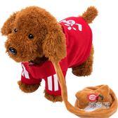 錄音玩具狗狗會唱歌跳舞電子機械狗仿真泰迪牽繩走路小狗說話玩具HLW 交換禮物