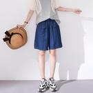 【慢。生活】簡約口袋設計丹寧短褲 K2321  FREE 深藍色