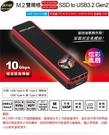 [哈GAME族]免運 可刷卡 炫彩LED散熱風扇 伽利略 M.2雙規 SSD to USB3.2 Gen2 鋁合金 MDF322
