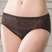 思薇爾-塑美波系列蕾絲中腰三角褲(醇品褐)