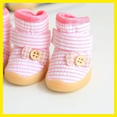 新品Petstyle條紋紐扣蝴蝶結鞋泰迪博美比熊寵物狗狗鞋子透氣Mandyc