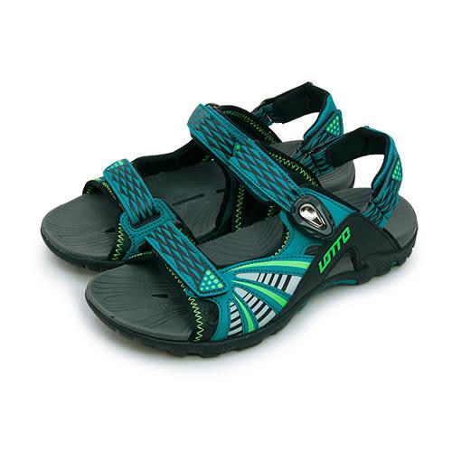 LIKA夢 LOTTO 多功能排水磁扣運動涼鞋 Magnetic button系列 藍綠黑 5195 男