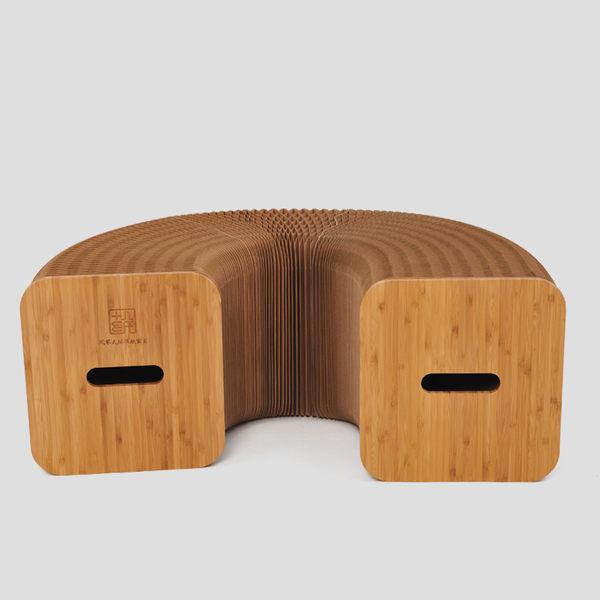 十八紙創意凳子客廳茶幾矮方圓凳兒童折疊 換鞋便攜家用時尚簡約  SSJJG